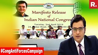 Congress Begins 'Anti Forces Campaign' | The Debate With Arnab Goswami