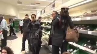 Demo at Waitrose for stolen produce from Palestine