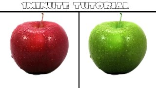 How to: Change color of any object in Photoshop CS6 - 1 Min Tutorial