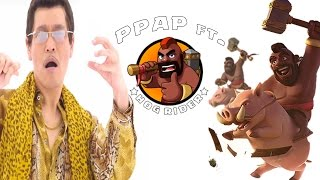 PPAP ft. Hogrider, Funny PPAP COC parody | Clash of clans | Funny Song 2016