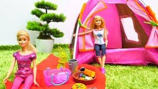 #Barbieoyunları. Barbie, Ken ve Kardelen kamp yapıyor. #Kızoyuncakları