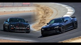 Ford Mustang GT Vs Chevrolet Camaro SS 2016 || Exhaust Sound and Acceleration