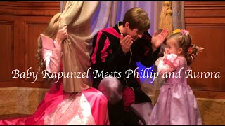 Baby Rapunzel Meets Prince Phillip and Princess Aurora