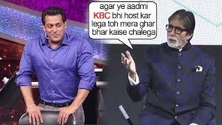 Amitabh Bachchan Gets SCARED Of Salman Khan Replacing Him As KBC Host After 10 Ka Dum success