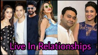 Bollywood couples who are in live in Relationships |Living Together without marriage