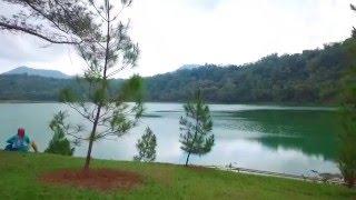 Pesona Danau Linow by Drone. Aerial video Danau Linow To