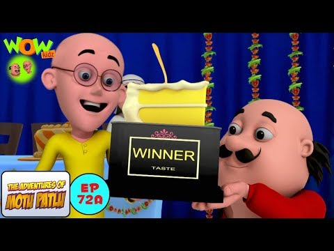 Cake Competition - Motu Patlu in Hindi WITH ENGLISH, SPANISH & FRENCH SUBTITLES