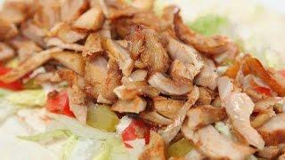 شاورما دجاج  (الشاورما السوريه)