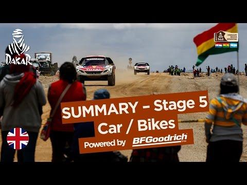 Stage 5 Summary Car Bike Tupiza Oruro Dakar 2017