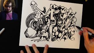 Drawing with Peter Draws: A Sharpie Doodle