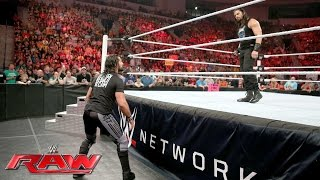 Roman Reigns wants Seth Rollins to prove he's not a coward: Raw, May 30, 2016