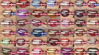 All 42 Lime Crime Velvetines SWATCHED! | Jade Madden