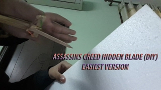 HOW TO MAKE A HIDDEN BLADE WITH POPSICLE STICKS!!! (easiest version)