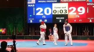 Taekwondo 18th Pre- ASEAN Games- Rozaimi Rozali vs Purevjav Teemujin
