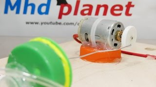 كيف تصنع مضخة هواء  صغيرة...How to make a small air pump