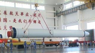 Long March-7 Yao-2 rocket preparing for launch
