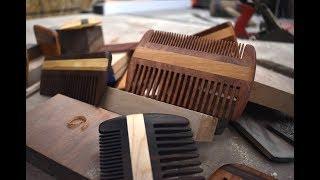Making a wooden beard comb