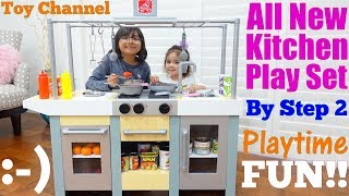 Family Toy Channel: Step 2 Kitchen Playset Playtime. Food Cooking Pretend Play. Kitchen Toy
