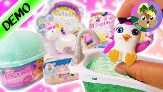 ميجا مفاجآت: مفجاءت من تواليت حصان اليونيكورن و البطاريق الصغيرة و صلصال الايس كريم الرائع العب معى