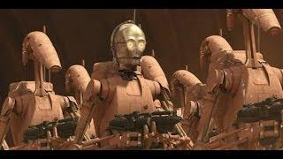 C-3PO Battle droid scenes
