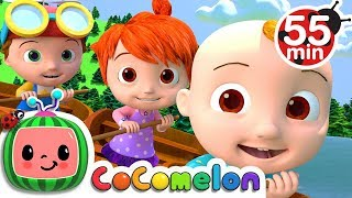 Row Row Row Your Boat | +More Nursery Rhymes & Kids Songs - Cocomelon (ABCkidTV)