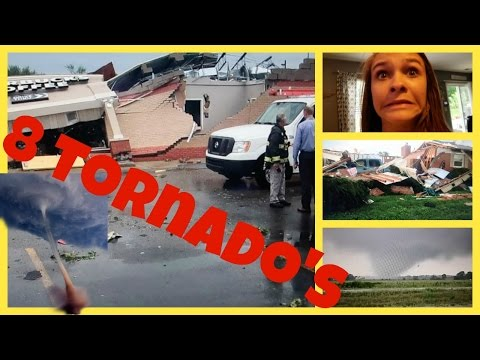 🚔RACING HOME FROM A TORNADO🚔 | 😵8 TORNADOS TOUCHED DOWN😵 | Emma & Ellie