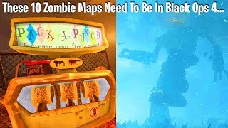 TOP 10 ZOMBIE MAPS FOR BLACK OPS 4 BATTLE ROYALE (oh snap new top 10)
