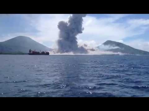 Volcano Eruption in Papua New Guinea