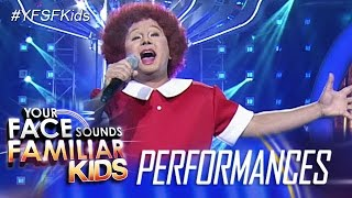 Your Face Sounds Familiar Kids: Ogie Alcasid as Annie