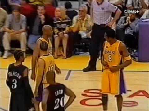 2001 NBA Finals Sixers at Lakers Gm 2 part 11 13
