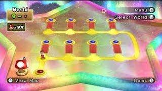 New Super Mario Bros. Wii 100% Walkthrough - World 9 All Star Coins (All 8 Levels)