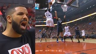Drake IMPRESSED By Norman Powell's Dunk! Magic vs Raptors Game 5