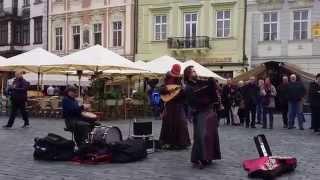 Prague street performance