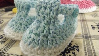 CROCHET BABY SANDALS ALL SIZES  English tutorial step by step