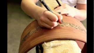 Roulette Custom Drums Bubinga Segmented Snare With Hand Drawn Paisley