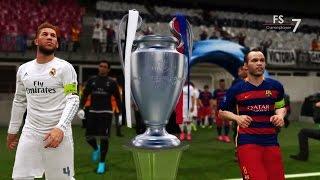 Real Madrid vs Barcelona - PES 2016 UEFA Champions League Final   EPIC COMEBACK HD