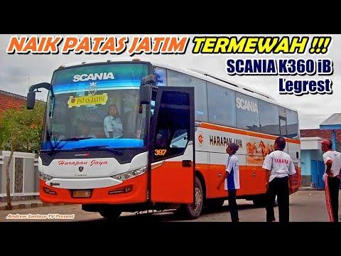 PATAS JATIM TERMEWAH PAKAI LEGREST !!! SURABAYA-TULUNGAGUNG NAIK HARAPAN JAYA SCANIA K360 iB
