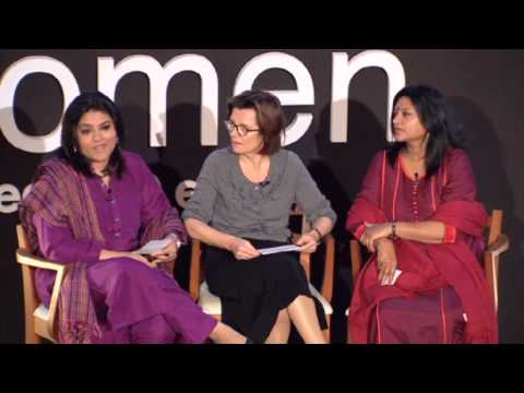 Arshi Saleem Hashmi, Archana Kapoor, and Edit Schlaffer at TEDxWomen