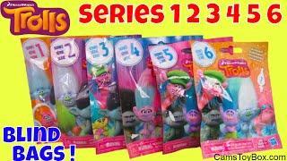 Trolls Series 1 to 6 Blind Bags Opening Dreamworks Surprise Toys Fun Kids