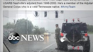 Photo of soldier who saluted funeral procession goes viral