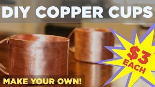DIY Copper Mug for Moscow Mule | Made from 3/4