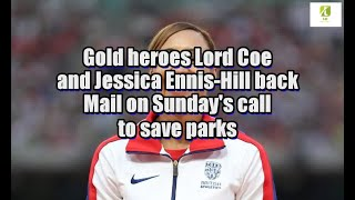 Gold heroes Lord Coe and Jessica Ennis-Hill back Mail on Sunday
