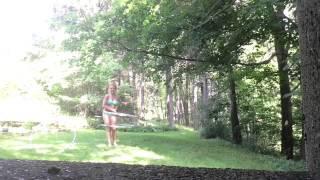 Sunny day hula hooping