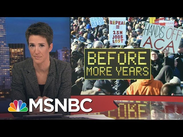 Protests Not Waiting For Donald Trump's Inauguration | Rachel Maddow | MSNBC
