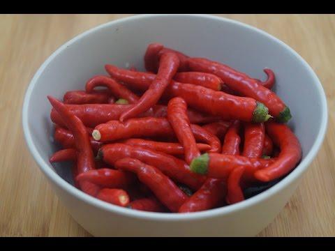 Pandu mirapakaya pachadi (Ripe red chilli chutney) in telugu