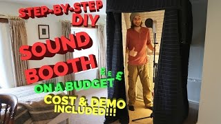 STEP-BY-STEP DIY SOUND BOOTH ON A BUDGET (Cost & Demo)