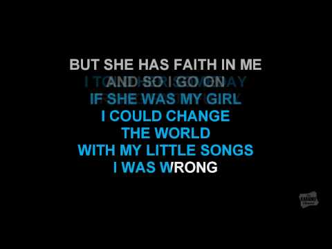 She Believes In Me in the style of Kenny Rogers karaoke video with lyrics (no lead vocal)
