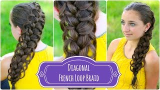 Diagonal French Loop Braid | Braided Hairstyles