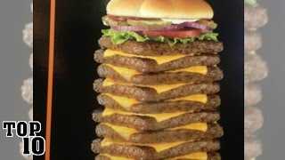 Top 10 Shocking Fast Food Items
