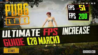 🔧 PUBG Lite : Insane Increase Performance/FPS With Any Low End Setup 2019 (March 28 Update)